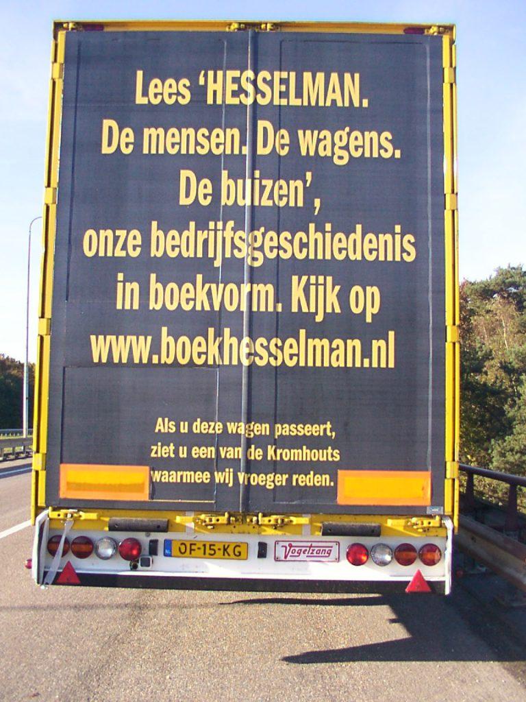 Achterkant trailer Hesselman